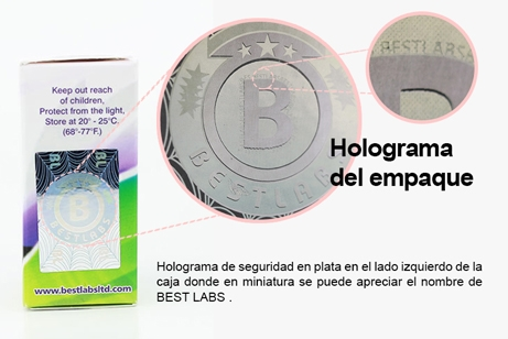 Best Labs Holograma empaque